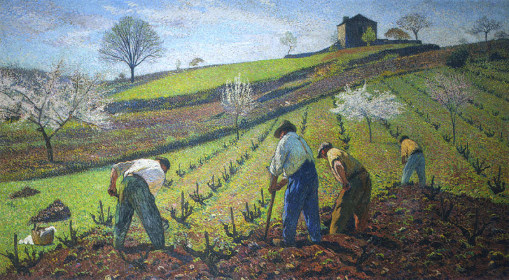 Henri Martin. The cultivation of vines