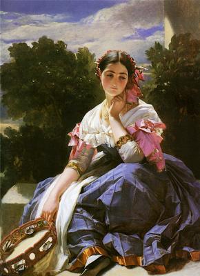 Franz Xaver Winterhalter. Portrait of an Italian girl from Ariccia