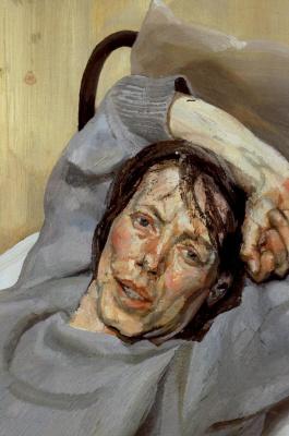 Люсьен Фрейд. Женщина в сером свитере