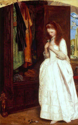 Arthur Hughes. The beauty and the Beast