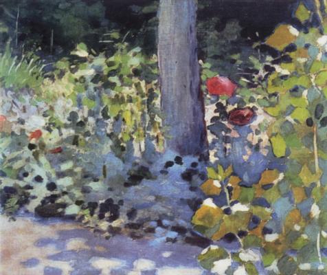 Victor Elpidiforovich Borisov-Musatov. Poppies in the garden. Etude