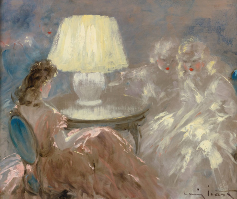 Icarus Louis France 1888 - 1950. Under the lamp. Private collection