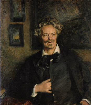 Sven Richard Berg. Portrait of August Strindberg.