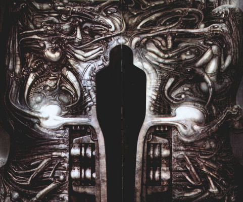 Hans Rudolph Giger. Entrance to the temple