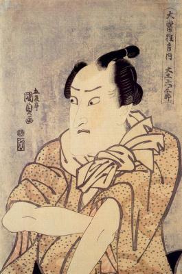 "Утагава Кунисада. Актер кабуки в спектакле ""Беспризорник"""