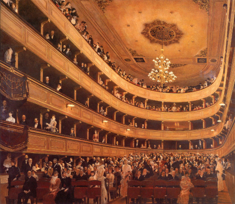 Gustav Klimt. The old Royal theatre