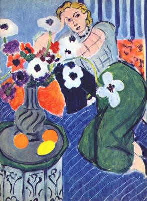 Henri Matisse. Odalisque. Blue Harmony