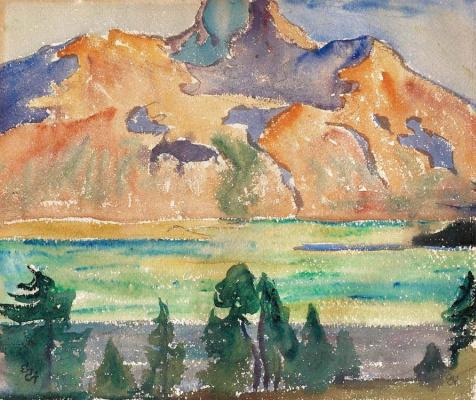 Джованни Джакометти. Горы и озеро Зильс