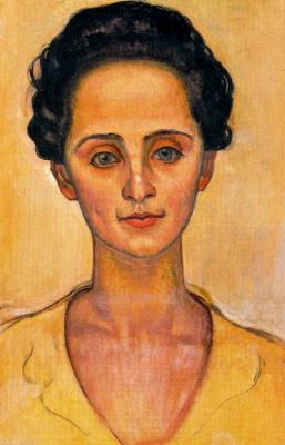 Фердинанд Ходлер. Портрет женщины в желтом