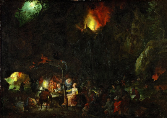 Jan Bruegel The Elder. The temptation of sv. Anthony. 1604