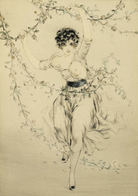 Icarus Louis France 1888 - 1950. Spring. About 1919 dry needle