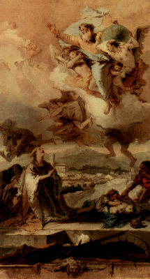 Giovanni Battista Tiepolo. SV. Tech, which delivered the population of the city of este from the plague