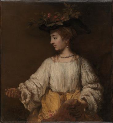 Rembrandt Harmenszoon van Rijn. Flora (portrait of Hendrickje Stoffels)