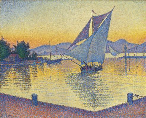 Paul Signac. Le Port au soleil couchant, Opus 236 (Saint-Tropez)