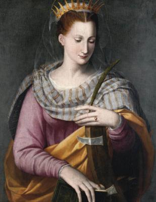 Alessandro Allori. Saint Catherine. Private collection