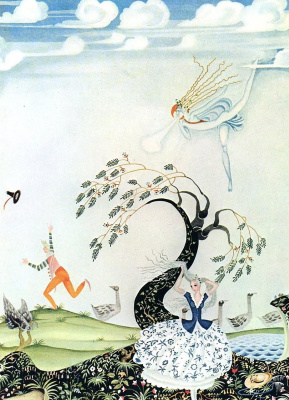 """Kay Nielsen. Illustration to the fairy tale """"the goose-Girl"""" by the brothers Grimm"""