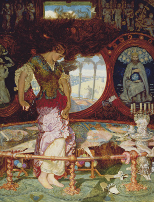 William Holman Hunt. Sorceress Shallotte