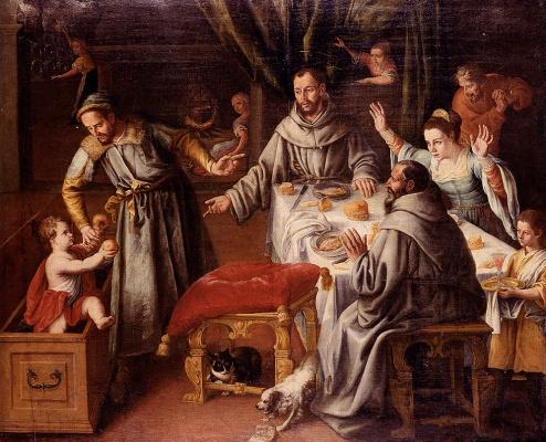 Хуан Санчес Котан. Чудо Св. Франциска
