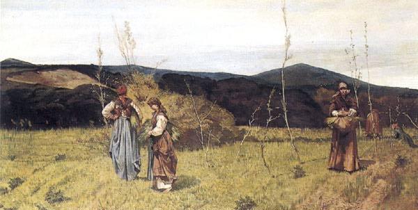 Giovanni Fattori. In the meadow
