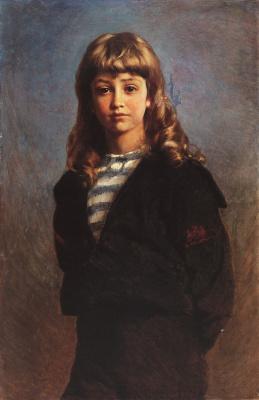 Konstantin Makovsky. Serge (Portrait of son in sailor suit)