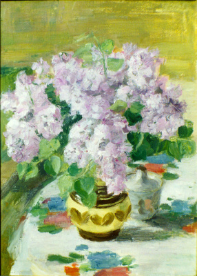 Urii Parchaikin. Lilacs on the table