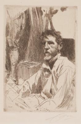 Anders Zorn. Sculptor Augustus Saint-Gaudens