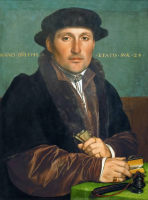 Hans Holbein The Younger. Portrait of a young man