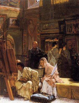 Лоуренс Альма-Тадема. Картинная галерея в Риме