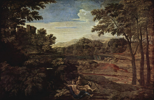 Nicola Poussin. Landscape with two nymphs
