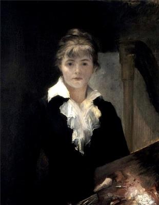 Мария Константиновна Башкирцева. Self-portrait with palette