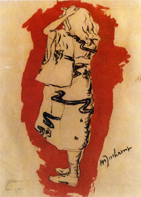 Marcel Duchamp. Yvonne (in kimono)