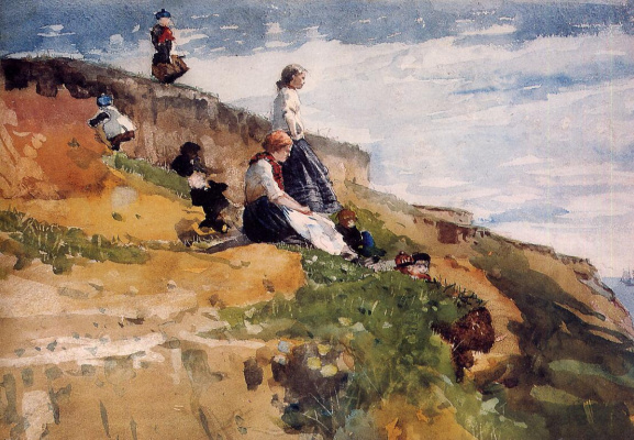 Winslow Homer. On the rock