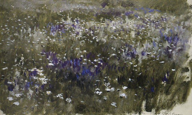 Isaac Levitan. Flowering meadow
