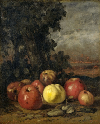 Gustave Courbet. Still life with apples