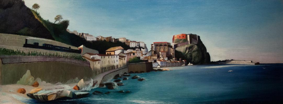 Tivadar Kostka Chontvari. City on the coast, Sicily