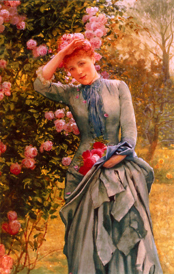 Эдвард Киллингворт Джонсон. Сбор красных роз