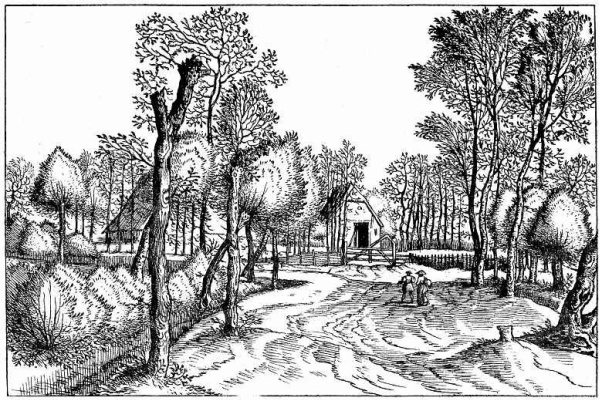 "Pieter Bruegel The Elder. The series ""Small landscapes"". Landscape # 2"
