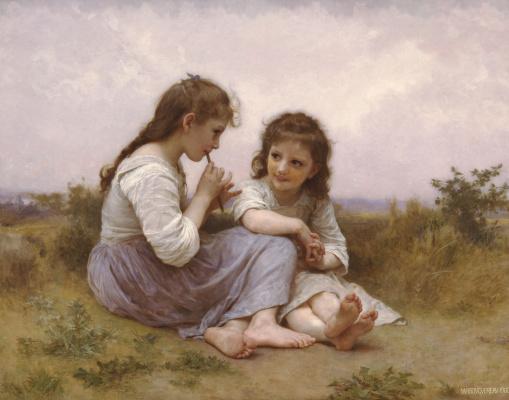 William-Adolphe Bouguereau. Children's idyll