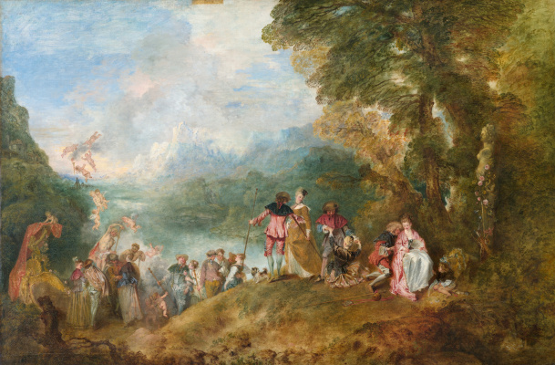 Antoine Watteau. Pilgrimage to the island of Kythira (the first option)