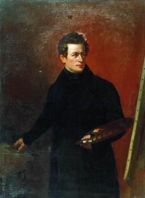 Alexander Grigorievich Varnek. Portrait of the artist K. P. Bryullov. Kyrgyz National Museum of Fine Arts, Bishkek
