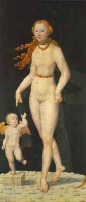 Lucas the Younger Cranach. Venus and Cupid