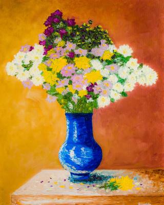Arina Yuryevna Yastrebova. Still life with flowers