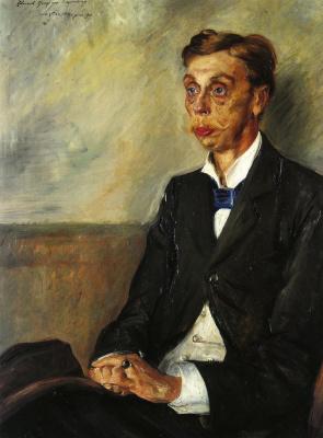 Lovis Corinto. Portrait of Eduard, count Keyserling