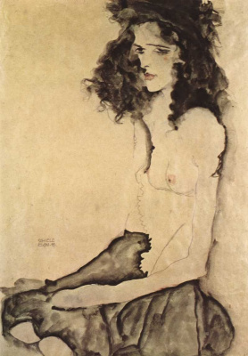 Egon Schiele. Girl in black