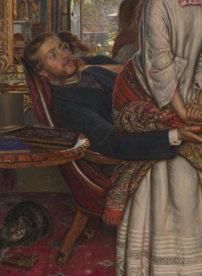 William Holman Hunt. Awakened shame. Fragment