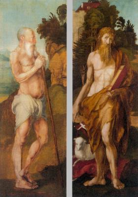 Альбрехт Дюрер. Святой Онуфрий и Иоанн Креститель