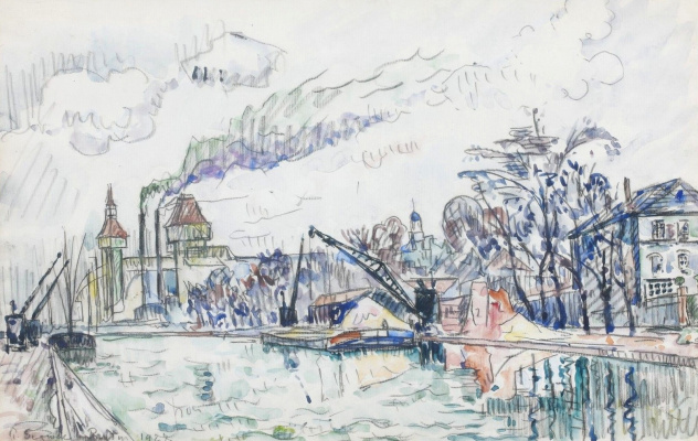 Paul Signac France 1863 - 1935. Urk Channel. 1927