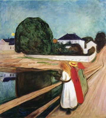 Edvard Munch. Girls on a bridge
