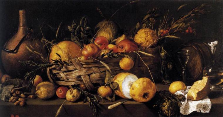 Антонио де Переда. Натюрморт с фруктами