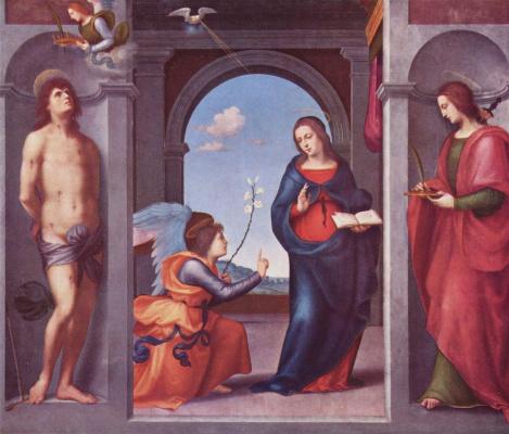 Мариотто Альбертинелли. Благовещение Марии